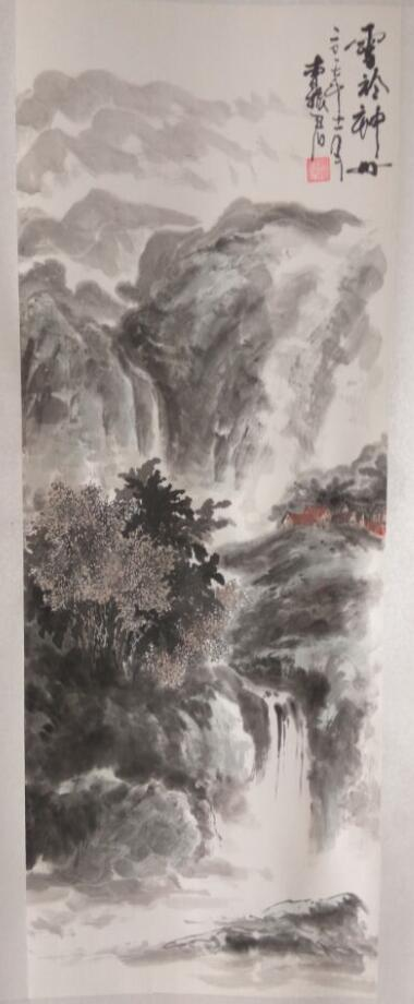 """曹振君山水画""""春夏秋冬""""四季图-冬"""
